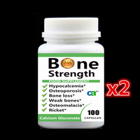 200PCS Bone Strength Calcium Gluconate Capsules Calcium Supplement For Hypocalcemia Osteoporosis Osteomalacia Ricket Grow Taller