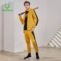 Men Running Sportswear Sweatshirt Sweatpants Gym Fitness Workout Training Jacket Pants 2pcs/Sets Male Jogging Sports Clothing