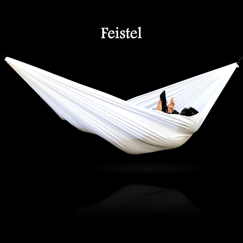 Camping Hammock Mosquito Net Portable Outdoor Garden Travel Swing Canvas Stripe Hang Bed Hammock White Hammock Hanging
