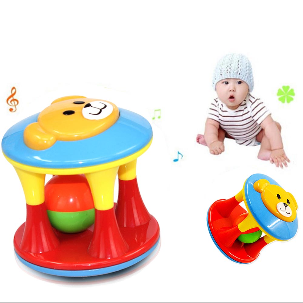 Baby Toys For Children Animal Ball double-headed bear bells ball Mobile Toys Baby Rattle Infant Develop Baby Intelligence Rattle(China)