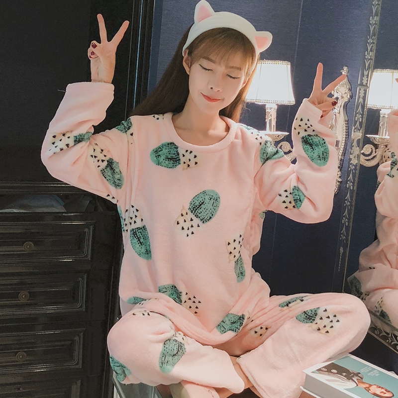 Winter pregnant women Flannel pajamas maternal long sleeved home clothes Maternity large size feeding nursing clothing set qfn48 mlp48 mlf48 qfn 48 52 bt 0 4 01 enplas qfn 6x6 mm 0 4pitch ic test burn in socket with ground pin
