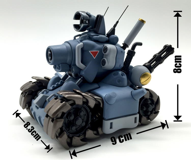 NEW hot 8cm blue Metal Slug assemble tankette collectors action figure toys Christmas gift toy
