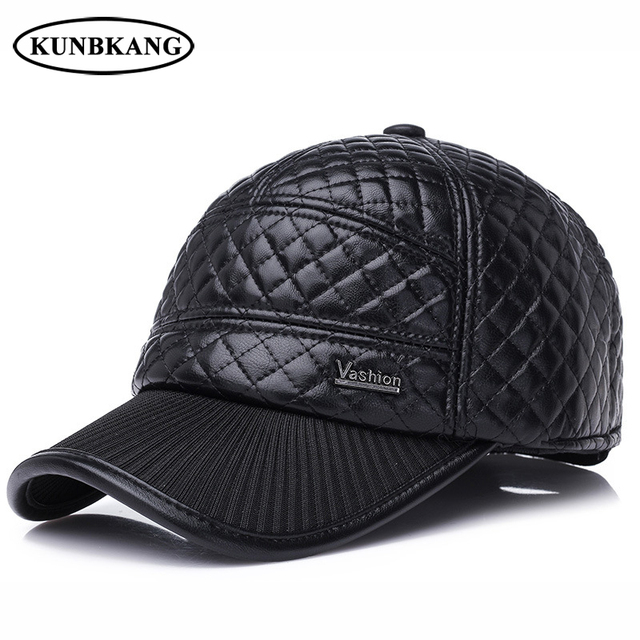 051cb56aa8be6 New Men Winter Baseball Cap Casual Dad Hat Warm With Ear Flaps Male Fashion  Thick Bone Winter Protection Snapback Cap Gorras