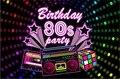 Пользовательские 80s Вечеринка день рождения 80 тема звездный свет фоны Высокое качество компьютерная печать Вечеринка фотостудия фон