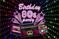 custom 80s Party Birthday 1980 Theme star light backdrops High quality Computer print party photo studio background