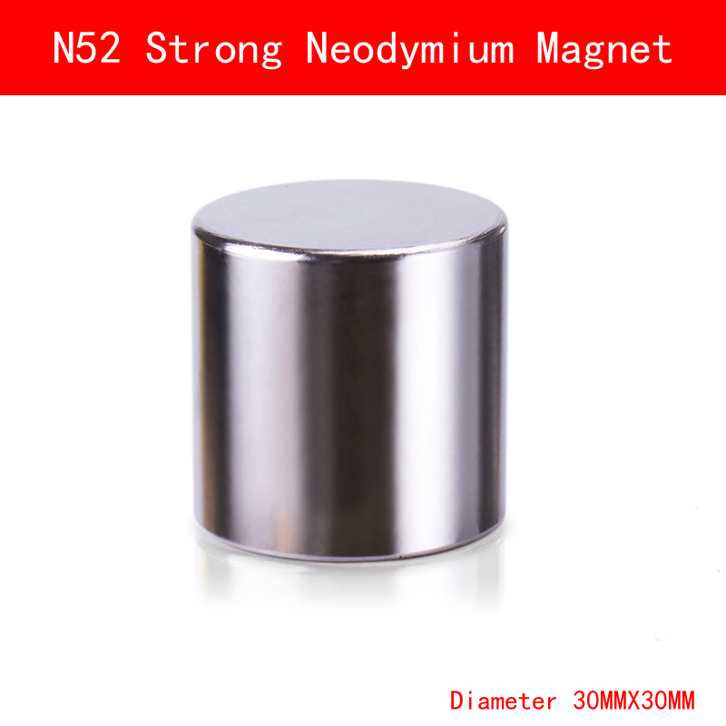 N52 D30mmx30mm Super Strong Cylinder Round Magnets diameter 30*30MM Neodymium Rare Earth Magnet N52 qs 3mm216a diy 3mm round neodymium magnets golden 216 pcs