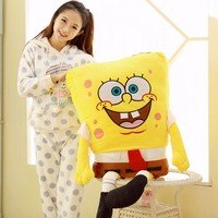 cartoon figure lovely SpongeBob Plush toy soft hugging pillow christmas gift about 120cm 0327