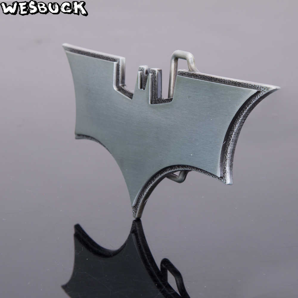 WesBuck Merek Batman Logam Crown Sabuk Gesper untuk Pria Unisex Keren Gesper Barat Cowboys Cowgirls Hebilla Paracord Gesper Mewah