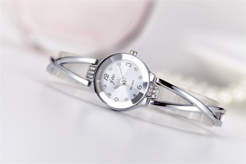 New Fashion Rhinestone Watches Women Luxury Brand Stainless Steel Bracelet watches Ladies Quartz Dress Watches reloj mujer Clock 17