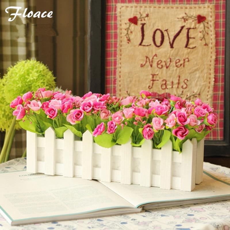 Floace Umělé květiny dekorativní nábytek diamantová růže bud 30cm plot květinový oblek FL130011
