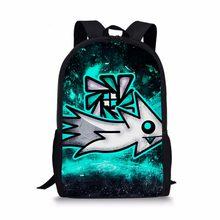 a5cb4696ae94 Геометрия тире рюкзаки школьные сумки детские ортопедические школьный 1  класс сумка для мальчиков и девочек студентов