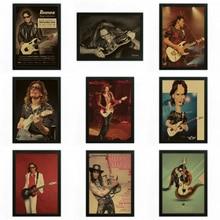 STEVE VAI Vintage Retro rock band musik Gitarre Matte Kraftpapier Antikes Plakat Wandaufkleber Home Decora