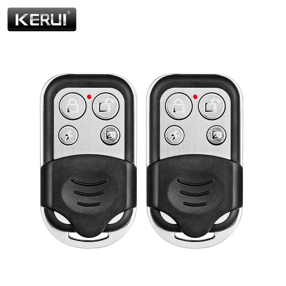 2pcs Wireless Metallic Metal Remote Control Setting Arm/Disarm For KERUI G19 G18 GSM Security Burglar Alarm System