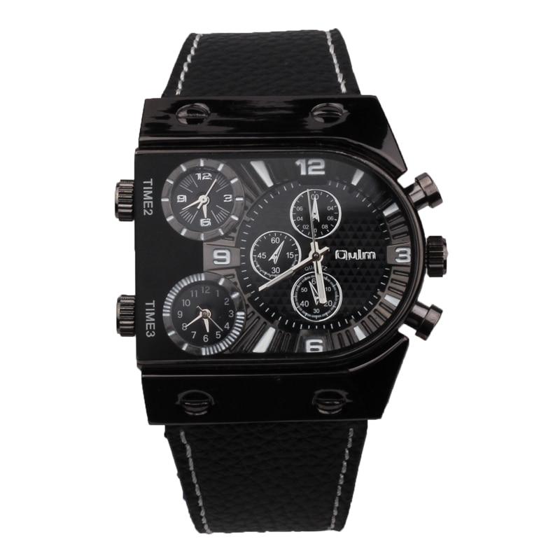 Известные бренды наручные часы моды OULM Приключения Для мужчин кварцевые  Военная Униформа часы роскошные часы 9c9ce73bc41