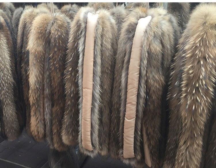 natural raccoon fur hoody trim collar (2)