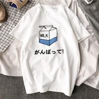 Kawaii Ulzzang Harajuku Aesthetic 100% хлопковая Футболка с принтом, топы с короткими рукавами и корейские стильные футболки, модная повседневная брендовая ...