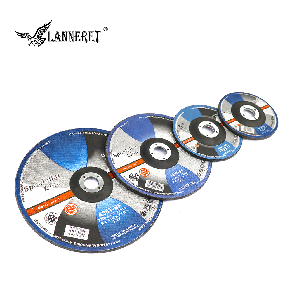 LANNERET Grinding Wheel Disc 115mm/125mm/180mm/230mm Stainless Steel Metal Sanding Abrasive Grinding Sheet Cutting Disc Pad
