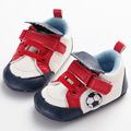 Soft Bottom Baby First Walkers Cartoon Football Print Warmer Cotton Girls Boys Newborn Moccasins Infant Toddlers Shoes