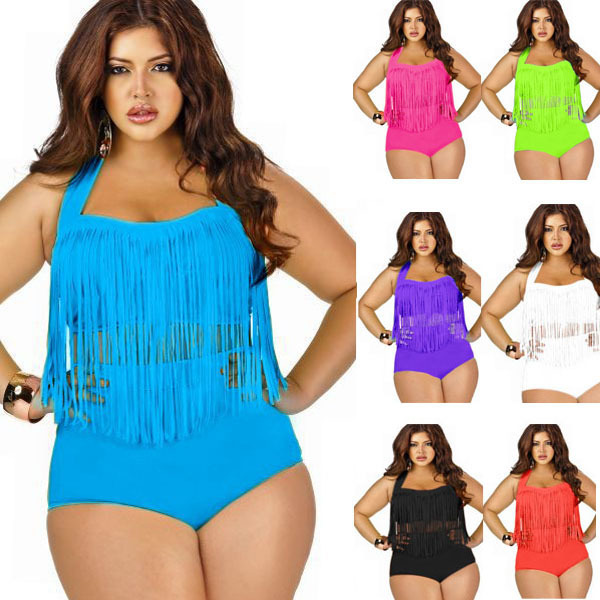 Two-Piece Big Size Tassel Swimwear