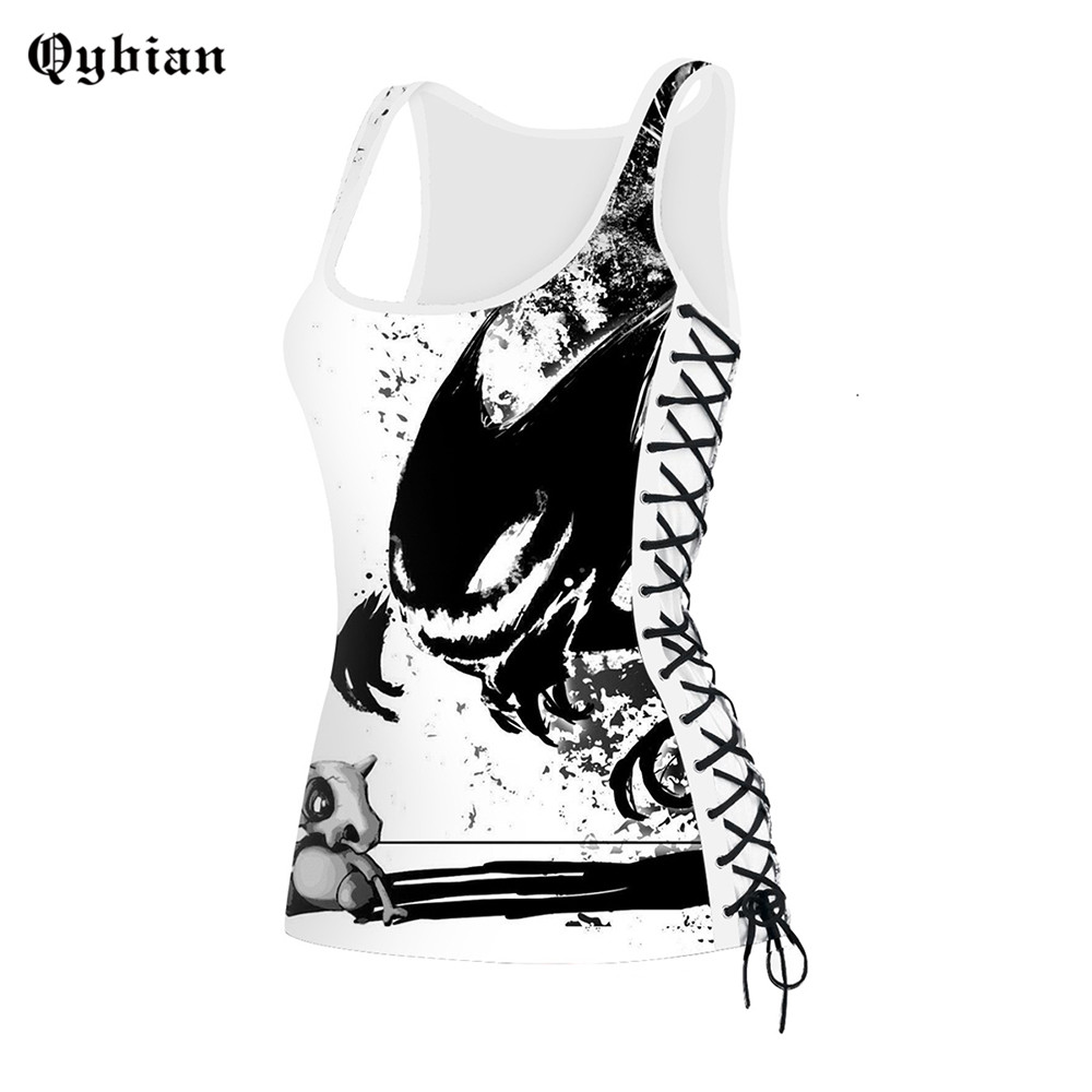 Qybian Sexy Women Tshirts Vest Tank-Top Round-Neck Casual Sleeveless Fitness Slim Ladies