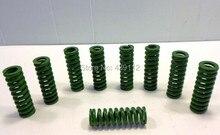Зеленый 16 мм х 8 мм х 35 мм металл трубчатые раздел формы обжимка весна 10 шт. / много