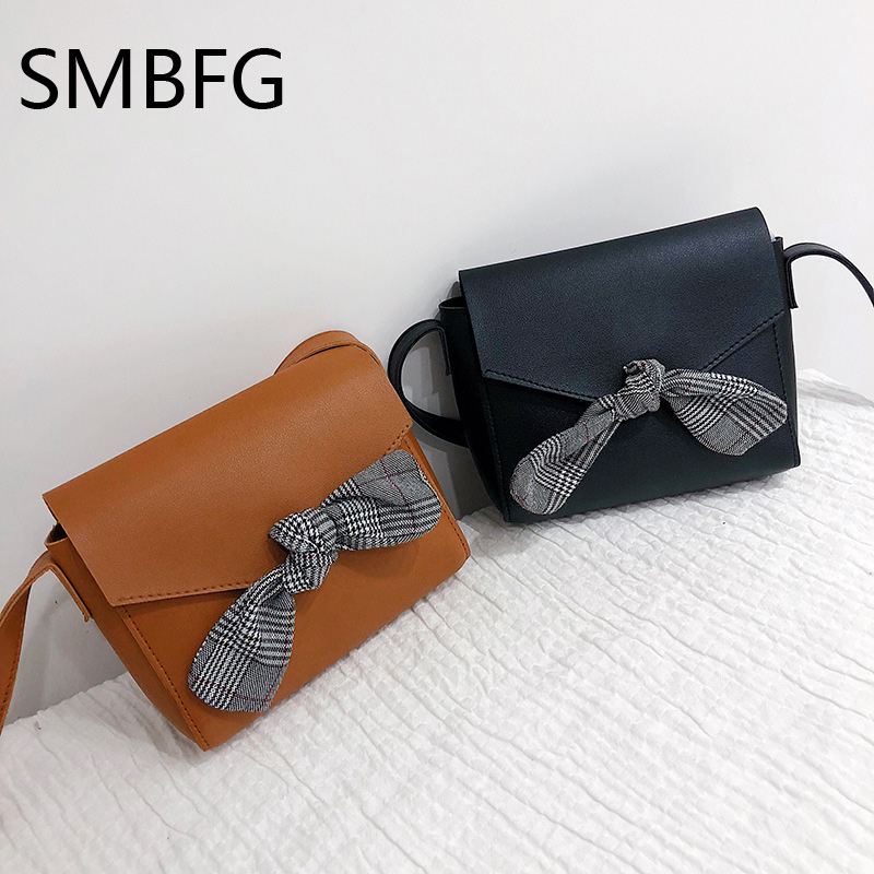Women Handbag with Bow Female PU Leather Small Bags Handbags Ladies Portable Shoulder Bag Office Ladies Hobos Bag 2018 New 4