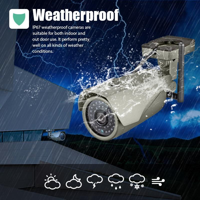 Caméra IP étanche KERUI Full HD 1080 P WIFI P2P Vision en temps réel caméra de Surveillance extérieure sans fil de sécurité à domicile
