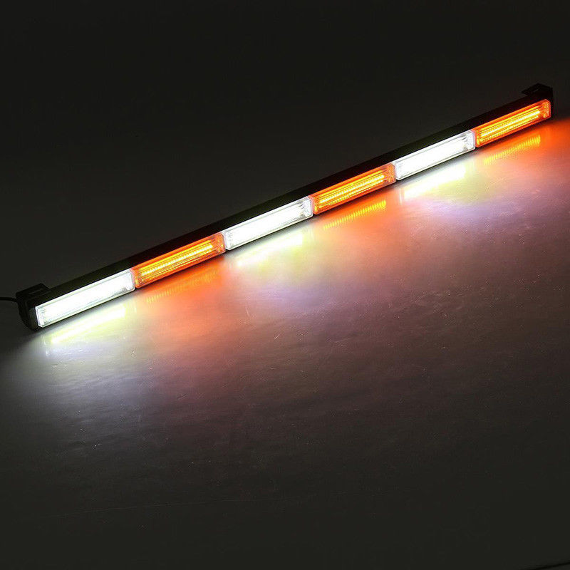 CYAN SOIL BAY Amber White 35 108W COB LED Emergency Warning Traffic Advisor Security Strobe Light Bar Flashing Lamp Yellow