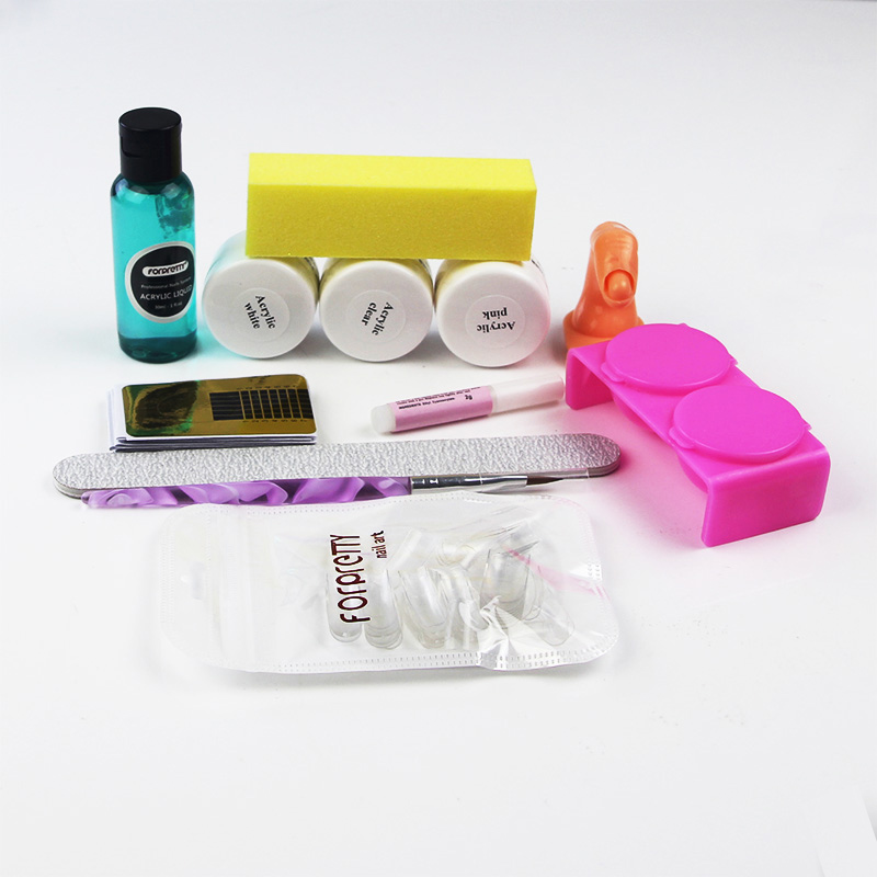 Acrylic Nail Kit Manicure Set Nails Extension Kits Acrilico Tools For Manicura Ongle Acrylique Art Acryl Starter Acrylnagels