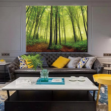 landscape canvas painting wall art poster prints green trees abstract paintings Decorative pictures for bedroom wall art canvas paintings good morning good night bedroom prints black white pictures poster gift kids room decorative