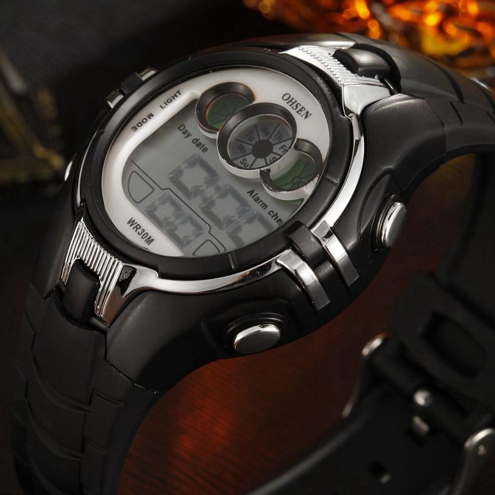 Top Brand OHSEN Digital Kids Watches Child Alarm Wristwatch LCD Sports Boys Swimming Watch Fashion Professional Design For Child