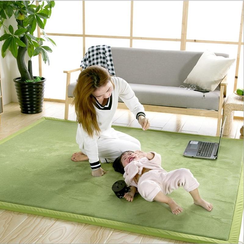 Tapis de tapis d'ouatine de corail 200*300 grande taille tapis Tatami Table à thé chambre tapis enfants pour salon tapis de ramper de preuve de chute