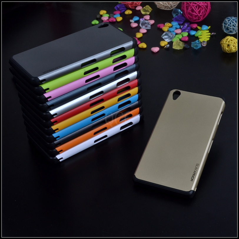 For <font><b>Sony</b></font> <font><b>Xperia</b></font> <font><b>Z3</b></font> L55T L55U D6653 SLIM ARMOR Anti-knock <font><b>phone</b></font> bags <font><b>Case</b></font> 11th colors protective silicone cover + 1x Screen film image