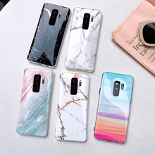 Shockproof For Samsung S10e S10Plus M10 A50 Cover Fashion Marble Phone Case Soft IMD Funda Glossy Back Coque Etui