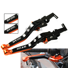 For Yamaha DT125R DT125RE DT125RL DT 125 R RE RL CNC Aluminum Motorbike Accessories Motorcycle Brake Clutch Levers Foldable for yamaha yfm700 raptor 700r 2000 2006 3d rhombus hollow motorcycle brake clutch levers for dt125 re dt125 r dt 125 2004 07