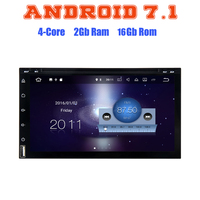 7 Inch Android 7 1 Quad Core 2 DIN Universal Car DVD Player Auto Radio GPS