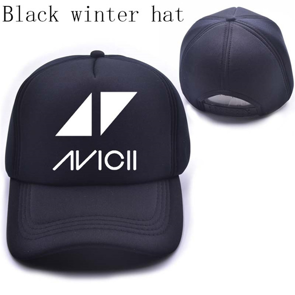 Music Dj Avicii cap Men Letter Wake Me Up Print baseball cap Casual Cotton Black White Hat Snapback Women Cap