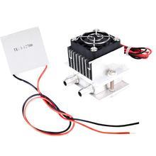 12V semi conducteur réfrigération refroidi à leau tête système de refroidissement kit composant de refroidissement réfrigérateur avec 12706 Peltier de refroidissement