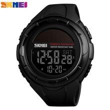 SKMEI Outdoor Men Sports Watches Digital Wristwatches Solar Power Waterproof Clock Mens Pedometer Calorie reloj hombre 1488