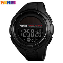 Skmei 야외 남자 스포츠 시계 디지털 손목 시계 태양 전원 방수 시계 남자 보수계 칼로리 reloj hombre 1488