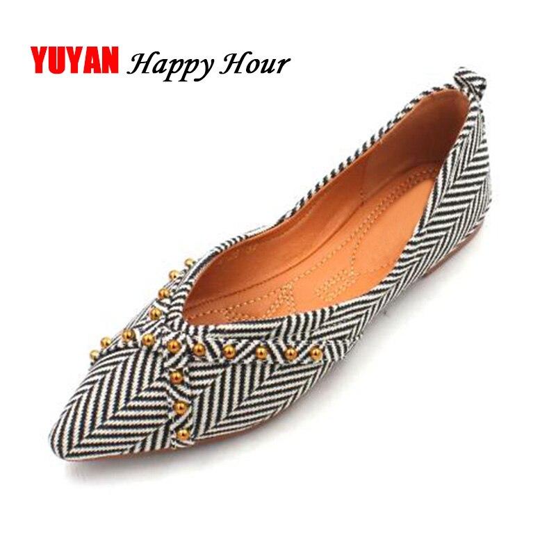 98378c20 Mujeres Más Mujer Zapatos Señoras Planos amarillo Moda La Negro De Mocasines  Las A562 Sexy Punta ...
