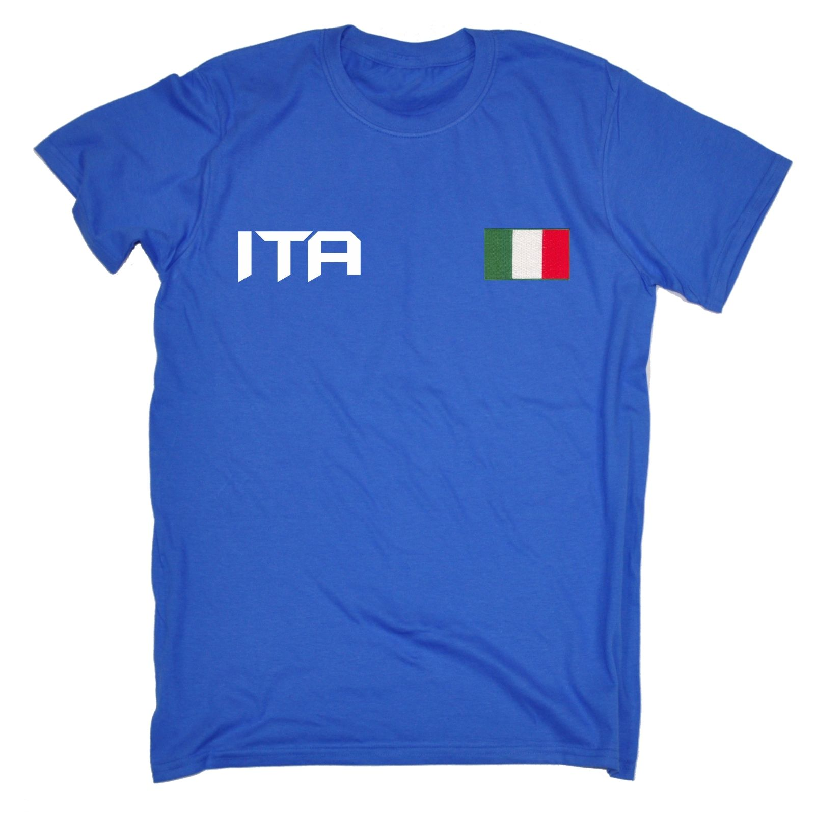 Italian Flag T-Shirt see  Abs Muscles through Flag Italy Size S to XXXL