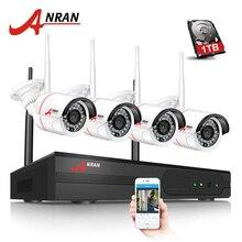 Anran новый список plug and play Беспроводной NVR комплект P2P 720 P HD Открытый ИК ночного видения безопасности IP Камера WI-FI CCTV Системы