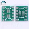 100 шт. SOT23 SOP10 MSOP10 Umax SOP23 к DIP10 Pinboard SMD DIP Переходная Пластина 0.5 мм/0.95 мм до 2.54 мм Контактный DIP ПЕЧАТНОЙ Платы Преобразования