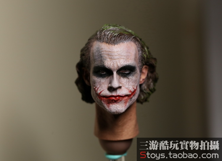 1/6 scale Batman Joker Heath Ledger Head Sculpture doll accessories for 12inch Action Figure,Body and clothes are not included