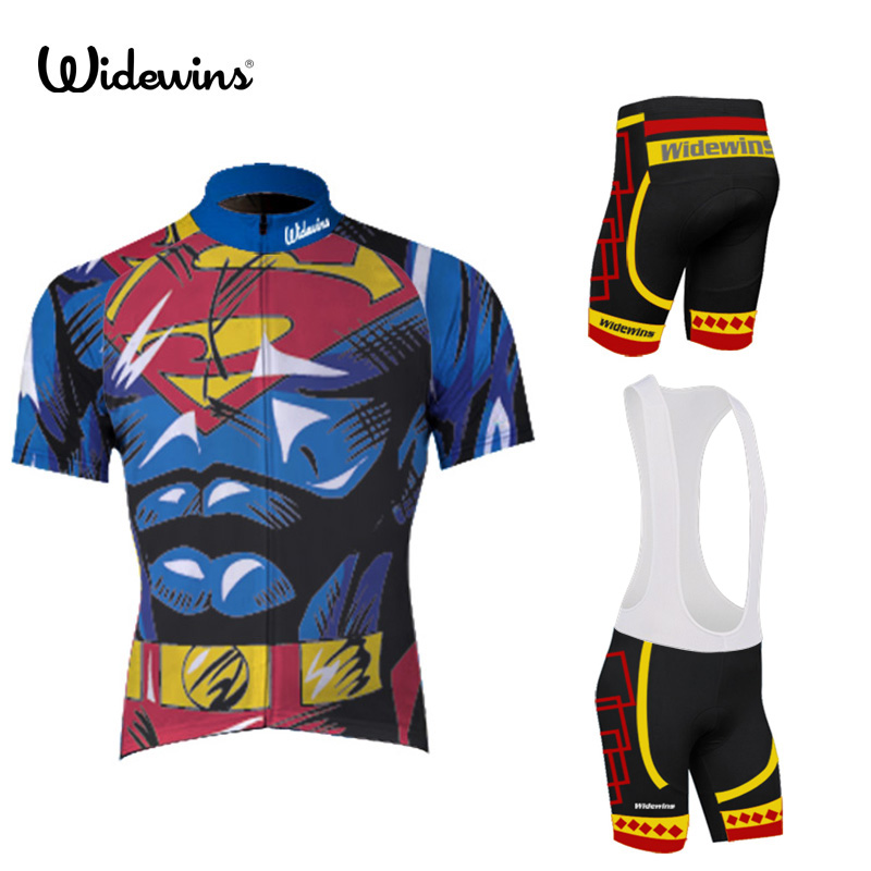 Fast Super Hero Black Batman Cycling Jersey Polyester Quick Drying Man Bike/bicycle Wear Short Clothing Ropa Ciclismo 5037