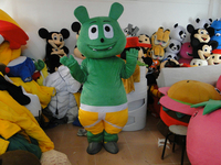 Hot selling Adult cartoon character lovely green bear Mascot Costume fancy dress party costumes