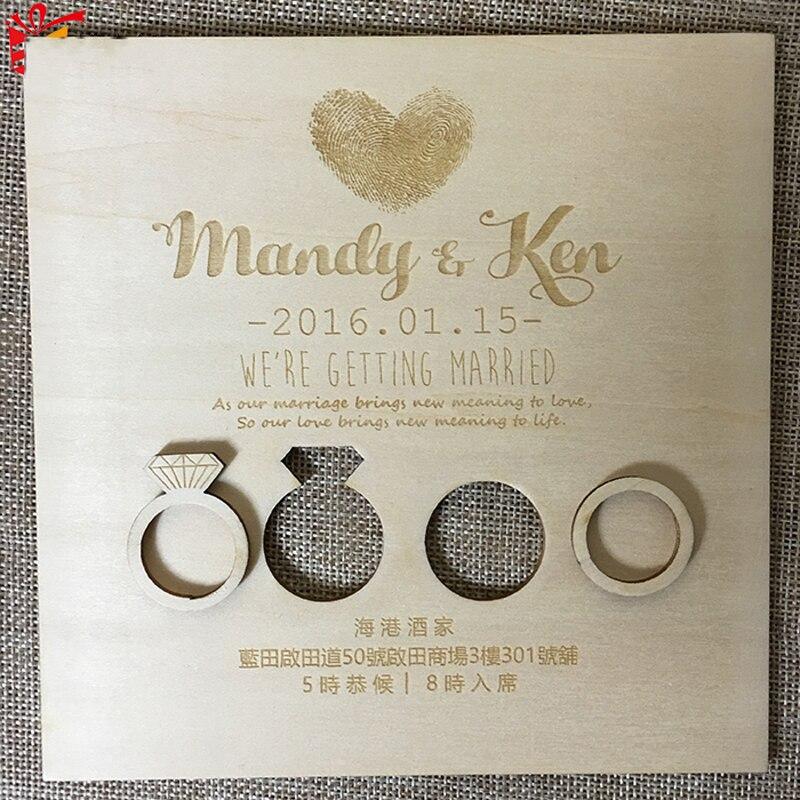 Персонализированные режущие пригласительные карты для свадьбы, деревянные бумажные полые приглашения на день рождения, украшения на свадь