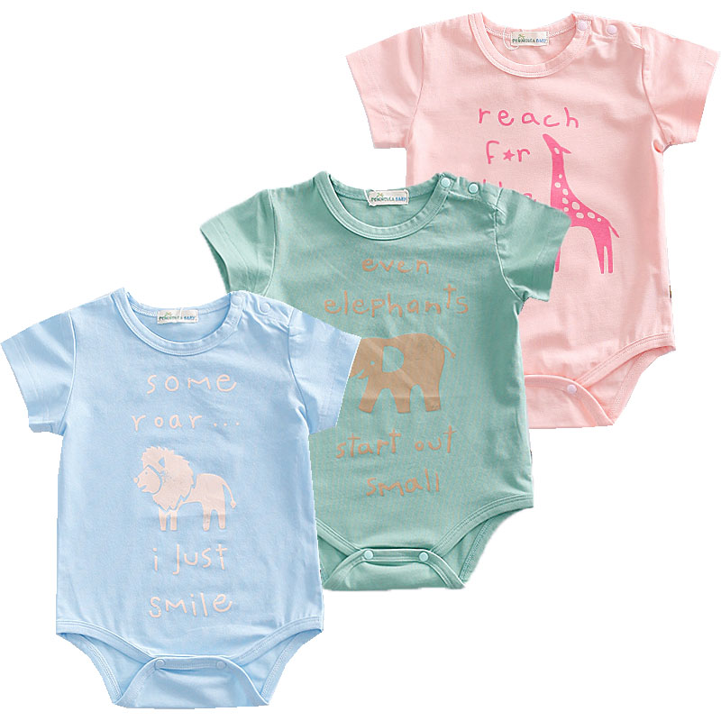 US $1.0 50% OFF|New Born Baby Bodysuits Summer Boy Clothes Animal Design Infant Jumpsuit Bodysuit for Newborn Baby Clothing Set Baby Costume-in Bodysuits from Mother & Kids on AliExpress
