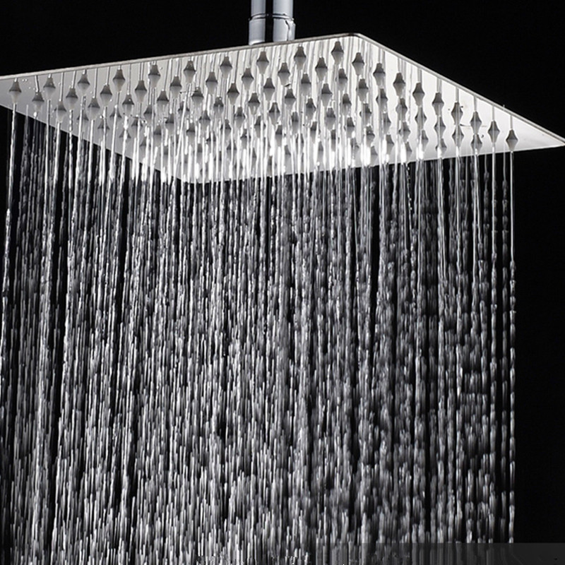 Bathroom Accessories Ceiling Mounted Rain Showerhead 304 Stainless Steel Ultrathin Shower Head 6/8/10/12/16 inch stainless steel black bathroom ultrathin 2 mm rain shower head 8 10 12 inch wall